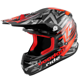 CASQUE CROSS VOODOO RIDE ICON RED SC15